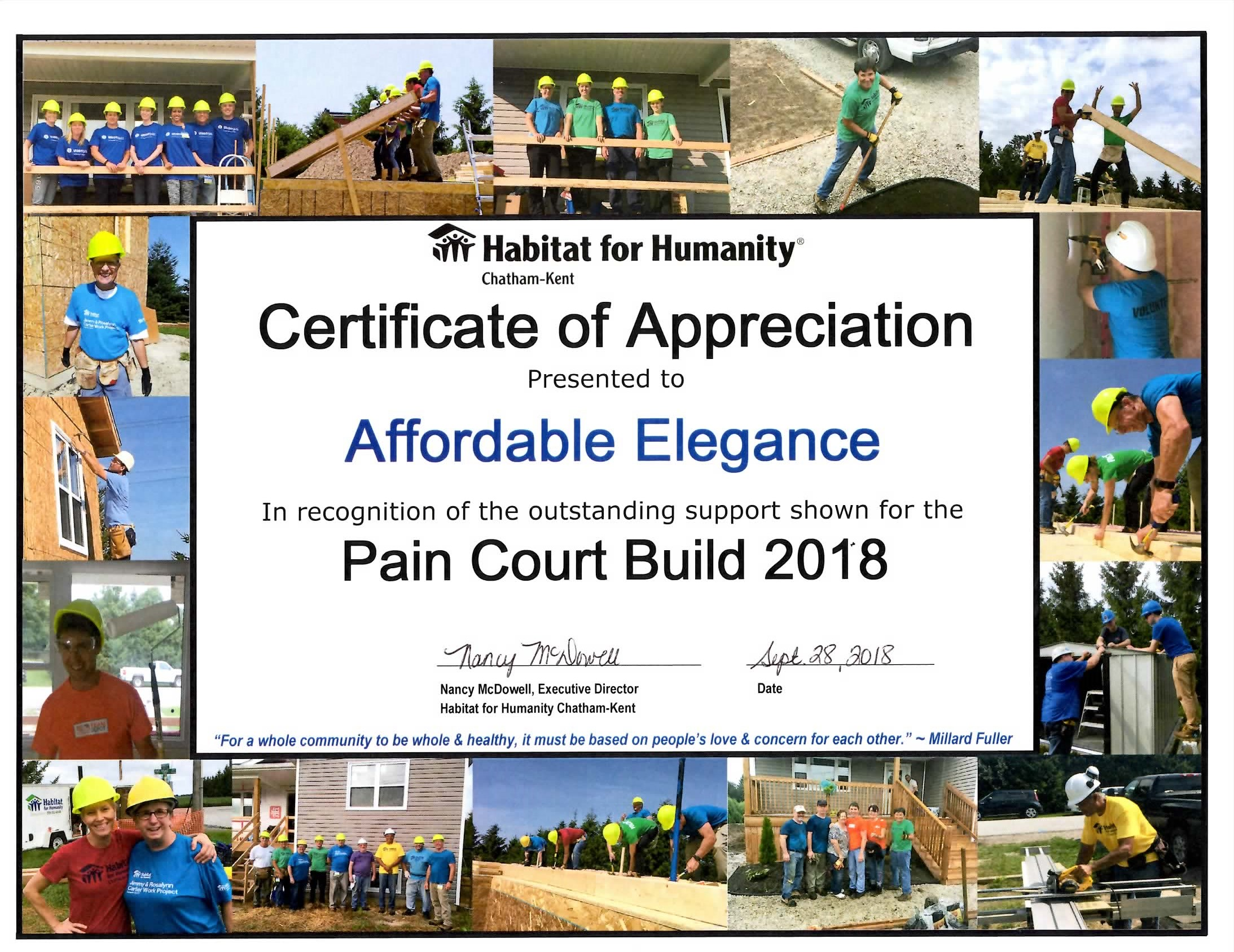 Habitat for Humanity 2018 Build
